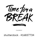 time for a break illustration... | Shutterstock .eps vector #416837734