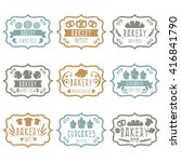 collection of vintage retro... | Shutterstock .eps vector #416841790