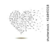 vector musical heart   Shutterstock .eps vector #416845318