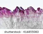 crystal stone macro  purple... | Shutterstock . vector #416855083