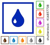 set of color square framed drop ...