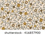 seamless cute flower vector... | Shutterstock .eps vector #416857900
