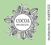 cocoa bean  superfood cacao... | Shutterstock .eps vector #416859223