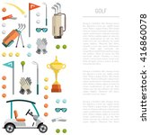 flat icons image sports gear...   Shutterstock .eps vector #416860078