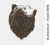 bear head | Shutterstock .eps vector #416873848
