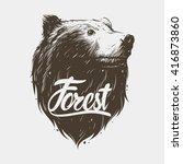 bear head | Shutterstock .eps vector #416873860