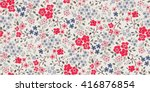Stock vector seamless cute flower vector pattern 416876854