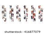 team over white united company  | Shutterstock . vector #416877079