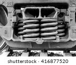 old boxcar springs in black and ...   Shutterstock . vector #416877520