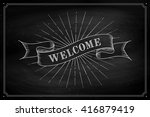 set of old vintage ribbon... | Shutterstock .eps vector #416879419