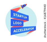 logo for startup project with... | Shutterstock .eps vector #416879440