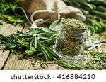Dried Rosemary In A Glass Jar ...