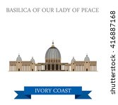 basilica of our lady of peace... | Shutterstock .eps vector #416887168