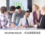 startup business  young... | Shutterstock . vector #416888068