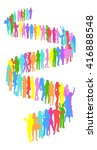 many people plane made of... | Shutterstock .eps vector #416888548