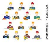 building industry builders...   Shutterstock .eps vector #416889226