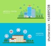 medical center full treatment... | Shutterstock .eps vector #416889238
