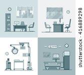 hospital clinic medical... | Shutterstock .eps vector #416889298