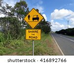 sign on country road in... | Shutterstock . vector #416892766