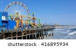 santa monica pier | Shutterstock . vector #416895934