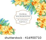 invitation with floral... | Shutterstock . vector #416900710