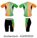 low poly colors sports t shirt... | Shutterstock .eps vector #416903920