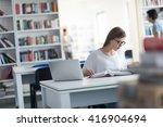 female student study in school...   Shutterstock . vector #416904694