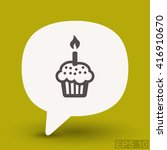 pictograph of cake | Shutterstock .eps vector #416910670