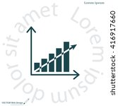 vector growing graph icon | Shutterstock .eps vector #416917660