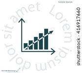 vector growing graph icon | Shutterstock .eps vector #416917660