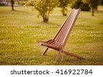 texture of wooden chaise lounge | Shutterstock . vector #416922784