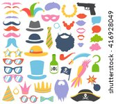 party birthday photo booth... | Shutterstock .eps vector #416928049