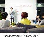 young asian entrepreneur... | Shutterstock . vector #416929078