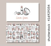 makeup artist business card....   Shutterstock .eps vector #416929354