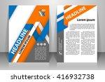 abstract vector modern flyers... | Shutterstock .eps vector #416932738
