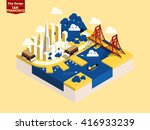 beautiful isometric style... | Shutterstock .eps vector #416933239