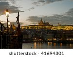 View Of The Prague Castle At...