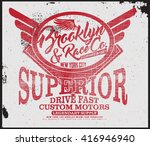 brooklyn t shirt graphic | Shutterstock .eps vector #416946940