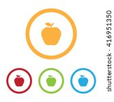 colorful apple icons with rings