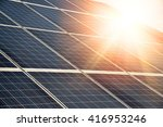 solar panel   photovoltaic  ... | Shutterstock . vector #416953246