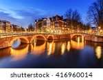 Amsterdam Canal During Twiligh...