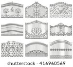 forged gates set.  decorative... | Shutterstock . vector #416960569