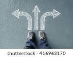 taking decisions for the future ... | Shutterstock . vector #416963170