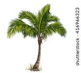 vector illustration of the palm ... | Shutterstock .eps vector #416966323