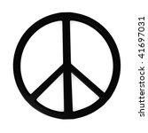 3d render of peace symbol | Shutterstock . vector #41697031