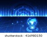 vector digital global... | Shutterstock .eps vector #416980150
