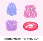 illustration with colorful... | Shutterstock .eps vector #416987464