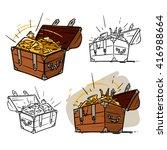 treasure chest | Shutterstock .eps vector #416988664