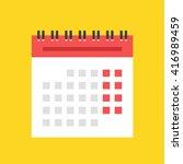 calendar flat icon. european...