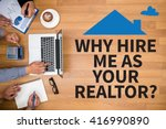 why hire me as your realtor ... | Shutterstock . vector #416990890